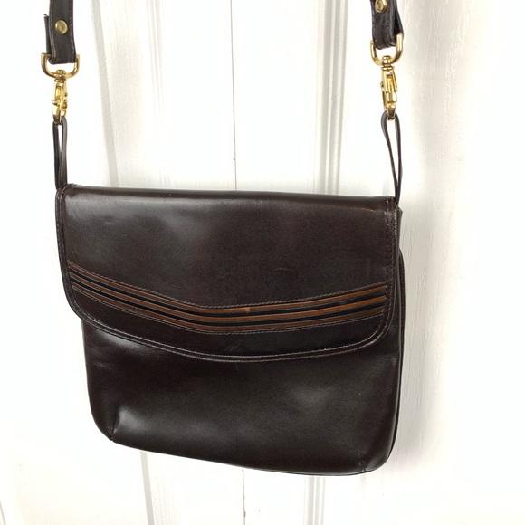 Andrew Geller Handbags - Andrew Geller Boutique Leather Crossbody Bag